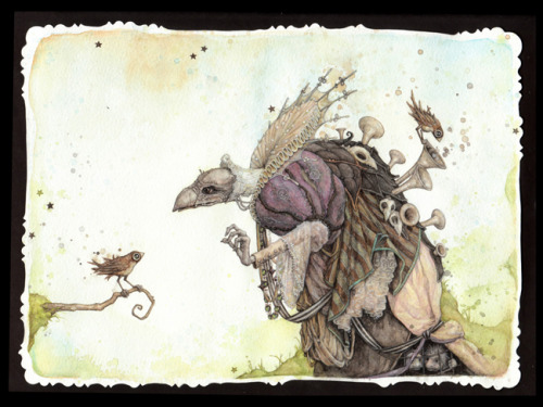 Hello, Mr. Skeksis by Leontine Greenberg / Flickr / Tumblr The Dark Crystal contribution to Gallery1988's Crazy 4 Cult upcoming Art Show.