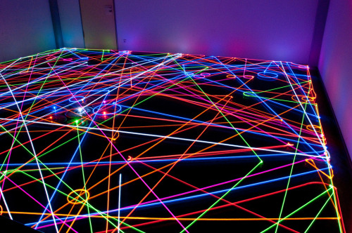 photojojo:  Sure, you could light paint with remote control helicopters, but vaccuum light painting is basically the best. Roomba Light Painting Flickr Group  Photo by IBRoomba via PetaPixel