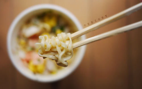 nissin seafood noodles saves the day :D