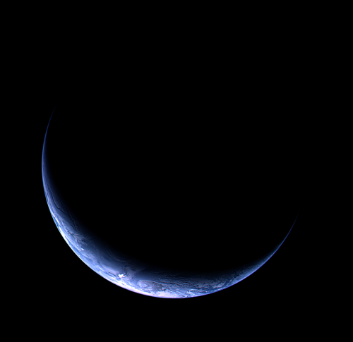 Crescent planets always make for good backgrounds.