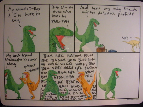 This is the first Dinosaur Comics Whiteboard I ever did!