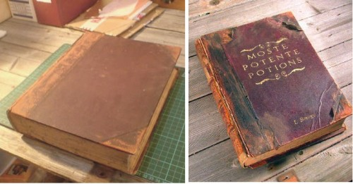 How to turn an old book into a Harry Potter style Hogwarts Library Spellbook.