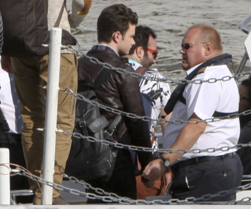 chriscolfernews:  Chris is getting on a boat.   So, apparently, is Telly.