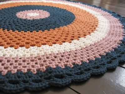 Aggie Decorative Crochet Floor Throw by Emma Lamb