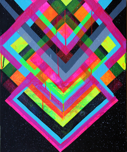 designwise:  via funcam: acrylic on canvas - Maya Hayuk.