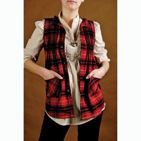 How to make a vest from an old plaid shirt (via).