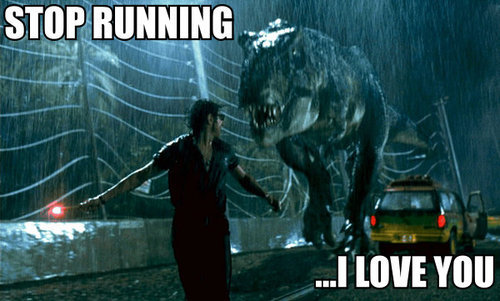 collegehumor:  Dinosaur love is so hard.