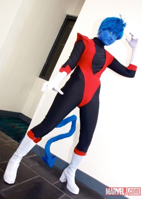Sexta cosplay:  noturnoiheartchaos:  Cosplay of the day: Nightcrawler Well… Nightcrawler the lady version. Via