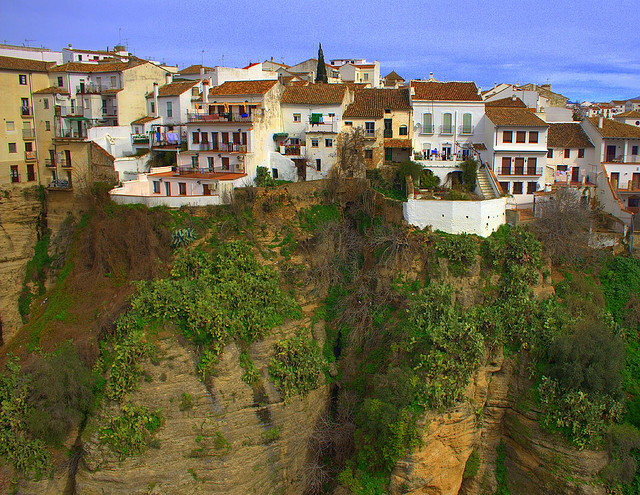 | ♕ |  Living on the cliffs - Historic Ronda, Spain  |  by Andrew E. Larsen
