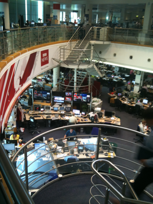The beating heart of the BBC Newsroom,  my 'home' for so many years.