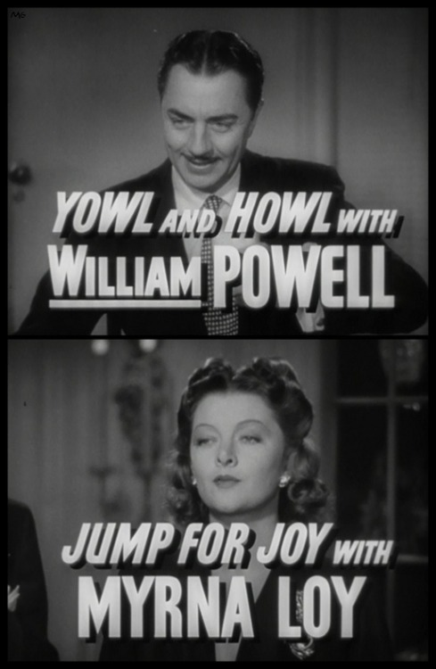 Trailer titles for Shadow Of The Thin Man (1941)