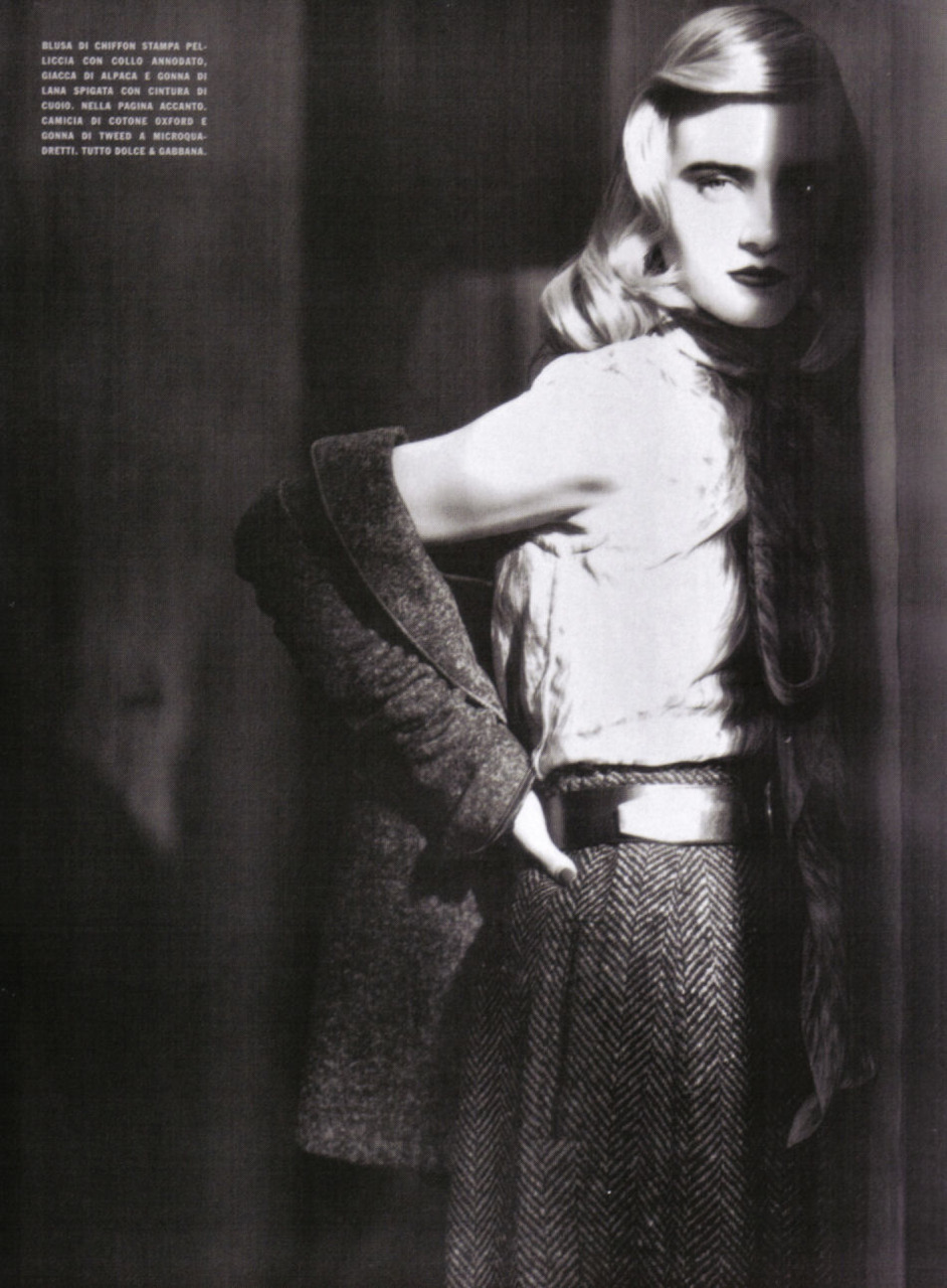 photographed by Paolo Roversi - Vogue Italia: September 2008 - The Magic of Chic