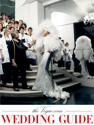 Vogue Online- The Wedding Guide. OH. MY. GOD. Someone pinch me please… This is undoubtedly Anna Wintour's latest idea. That woman is a genius…
