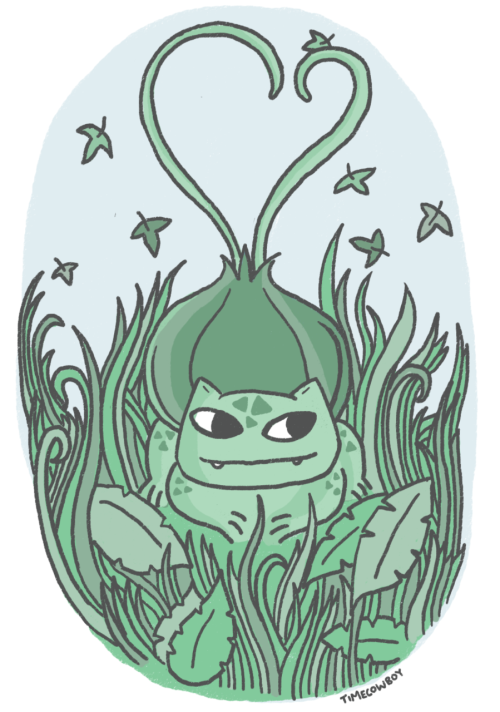 Bulbasaur! I've been a bit busy the last few days so I haven't been doing much in the way of drawing pictures, this is a picture for my loyal followers whom i love with all my vines. Wait thats not right.