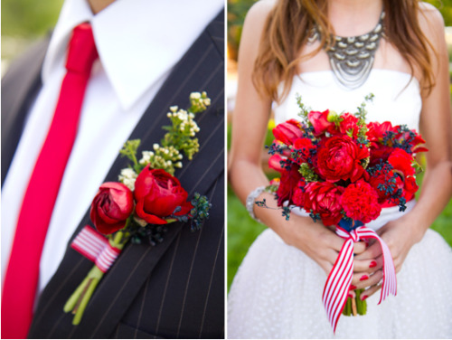 I am obsessed with red, white & blue weddings! Maybe it's just the time of year.