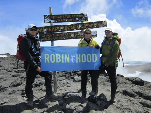 John MacFarlane and his two sons took the Robin Hood Endurance Team to new heights, hiking an impressive 20,000 feet to reach the summit of Mount Kilimanjaro. The Endurance Team is a small group of elite athletes who run, hike, swim, and bike in support of Robin Hood's mission of targeting poverty in New York City. Learn more and support the team.
