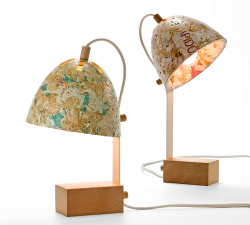 Kulla Design Studio : '50% Sawdust Table Lamps'