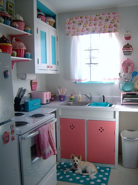 Cupcake Kitchen by gina678 on Flickr.i don't even CARE that this is overboard.