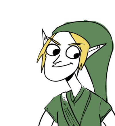 Didn't know who to draw, so I made Link look like a dumbass*. *Spell check is telling me dumbass is two words, but I refuse to believe that.