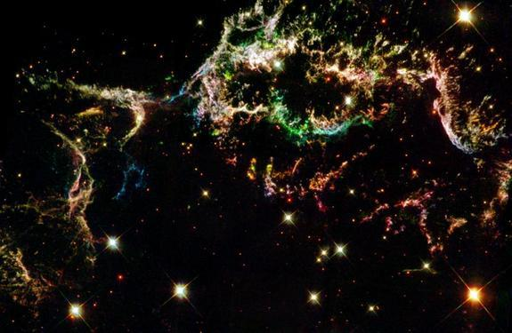 Best Space Fireworks Photos Ever Above, the remnants of supernova Cassiopeia A as seen through the Hubble. Very patriotic.
