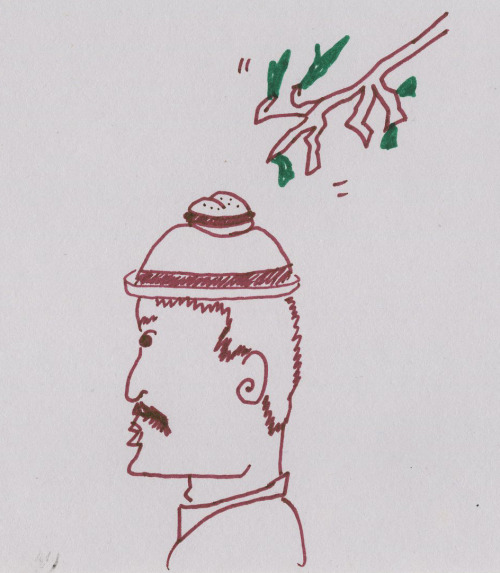 Sandwich Hangs Out on Man's Hat. Tree Uses Opportunity to Acquire Sandwich.