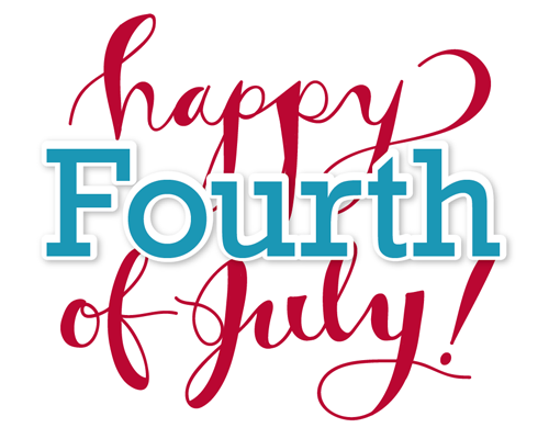 Happy 4th of July! We hope you have a great long weekend!