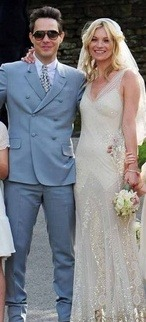 Congratulations to fashion icon Kate Moss who wed Jamie Hince today in ivory Manolo Blahnik slippers and an oyster color gown designed by her friend John Galliano! We wish you a lifetime of happiness, prosperity and most importantly love…