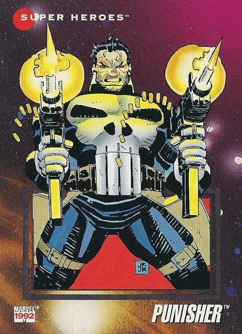 fuckyeahcomicnostalgia:  The Punisher (1992)  Oh, Romita Jr., my love-hate relationship with your art knows no bounds.  I hate the way you draw faces, but your Spidey and Daredevil were so awesome. I'm conflicted, honestly..