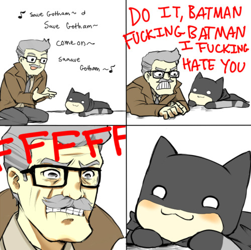 productofevolution:  omg batman's so cute
