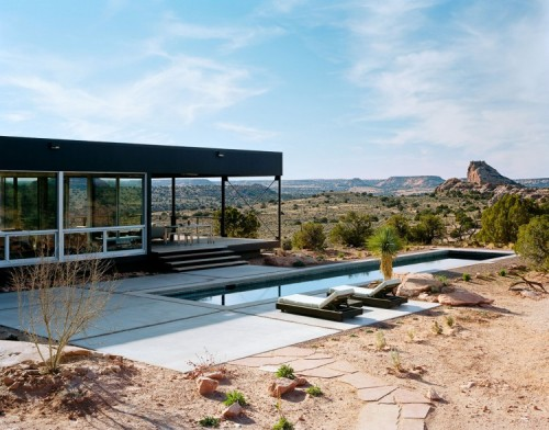 cabbagerose:    Hidden Valley Prefab in Moab by Marmol Radziner via: homdsgn