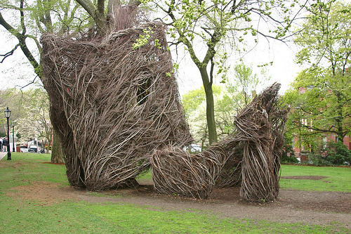 Patrick Dougherty Sculpture—very cool.