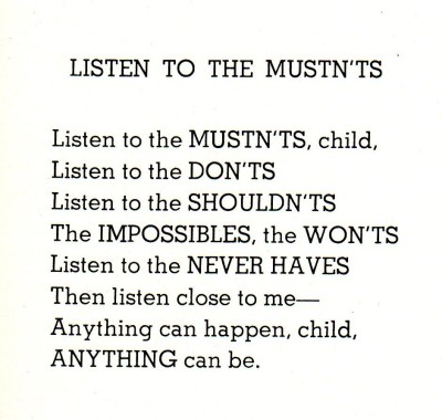 Listen To The Mustn'ts by Shel Silverstein