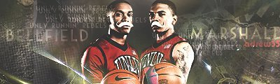 UNLV's backcourt Oscar Bellfield and Anthony Marshall. It is a old sig from me but still dope!