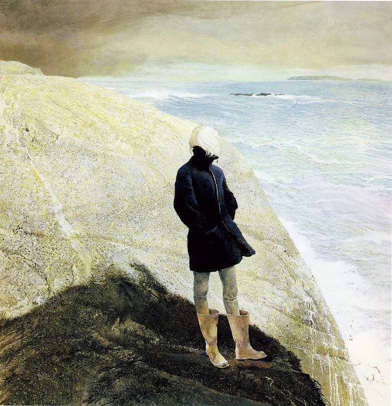 alone alone alone above a raging sea. — kateoplis:   Andrew Wyeth, On the Edge