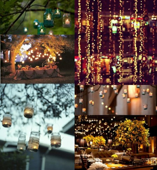 hanging lights.