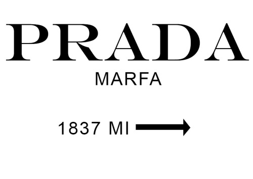 jvas2:  Prada Marfa Canvas Artwork