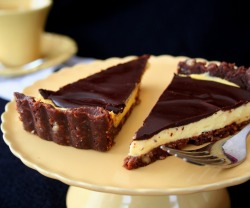 no oven, low carb! via phoods via All Day I Dream About Food: Nanaimo Bar Tart (Low Carb)