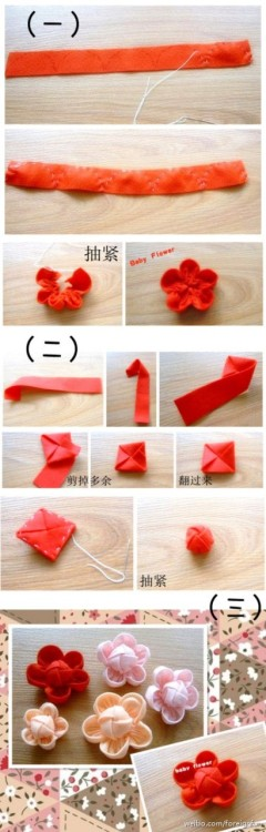 falling-in-love-tomorrow:  DIY: Baby Flower