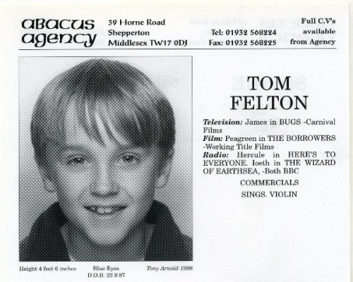 bunchofmisfits-:  Tom's original agency card.