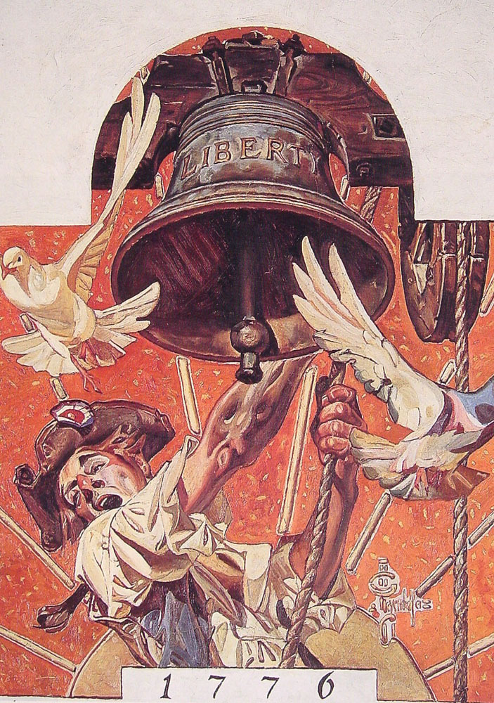 erikjohnsonillustrator:  JC Leyendecker - Ringing the Liberty Bell