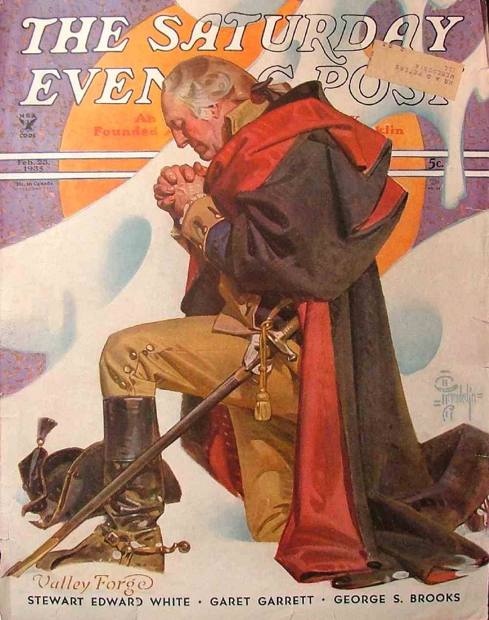 erikjohnsonillustrator:  JC Leyendecker - George Washington at Valley Forge