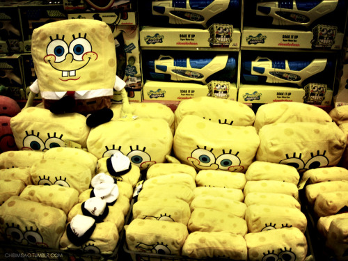 SpongeBob plushies with lomo effect. :)