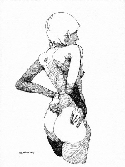 2009_0204_1 by Lucong on Flickr.Ink on watercolor paper, 12 inches by 9 inches, 2009
