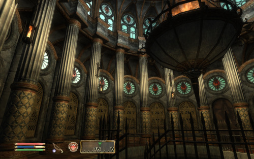 Once in a while in Oblivion, you just stop and stare at the architecture.