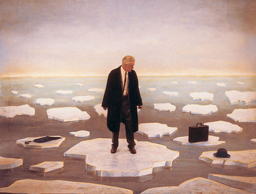 Untitled (man on ice) by Teun Hocks