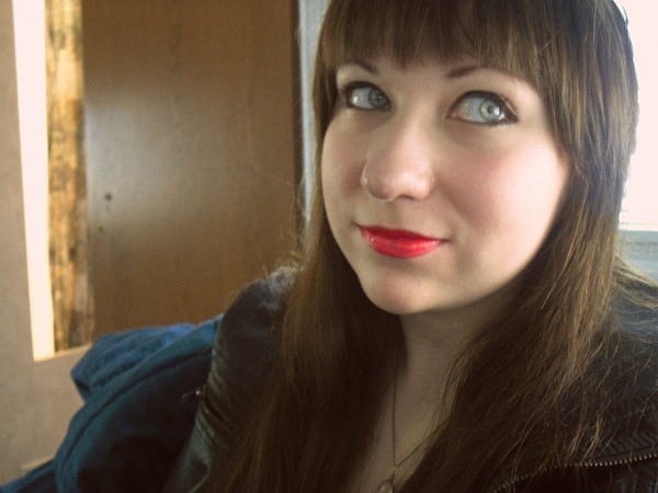 Dear hidingfromtheweather: You are beautiful! <3 Your make up is amazing. Your lip color looks amazing on you! Your eyes are captivating, and I adore your hair style!