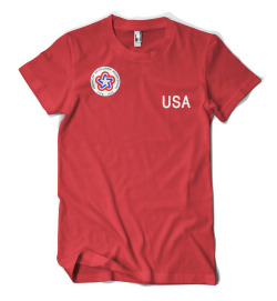 1976 - USA Soccer $20-25  Available Colors: Red Available Styles: Men - Fruit of the Loom Classic, American Apparel,    AA Lightweight Ringer                           Women - Gildan Classic, American Apparel, (Click        here or on the picture to purchase.)
