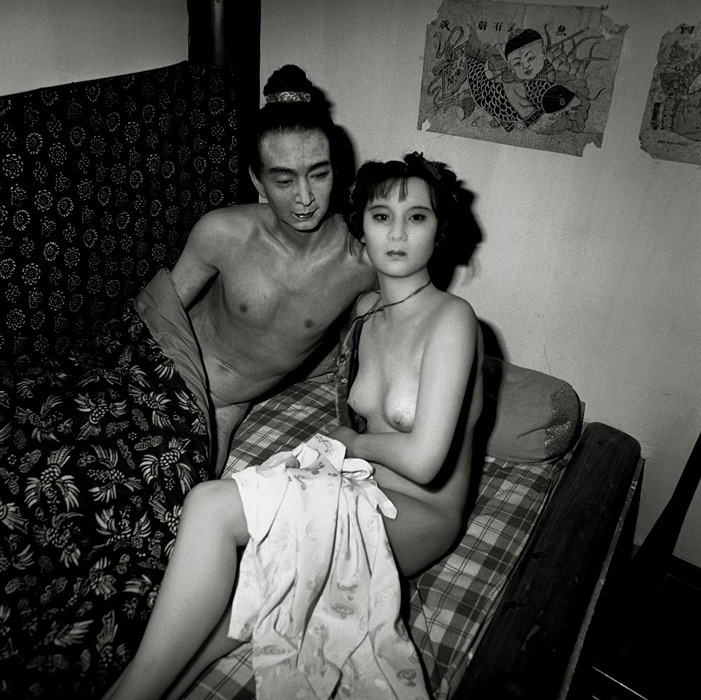 "Liu Zheng ""Waxwork, Emperor and Girl in Fornication, Changping, Beijing"" (2000) from the series ""The Chinese"" (source)"
