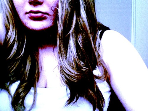 curled my hur. and then edited the picture like a boss.
