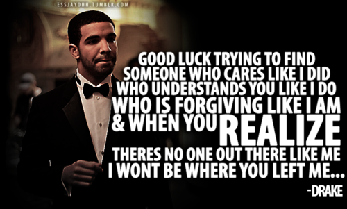 This hits all too close right now… Drake